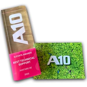 A10 Elevate Award Best Technical Support 2020 | Xantaro